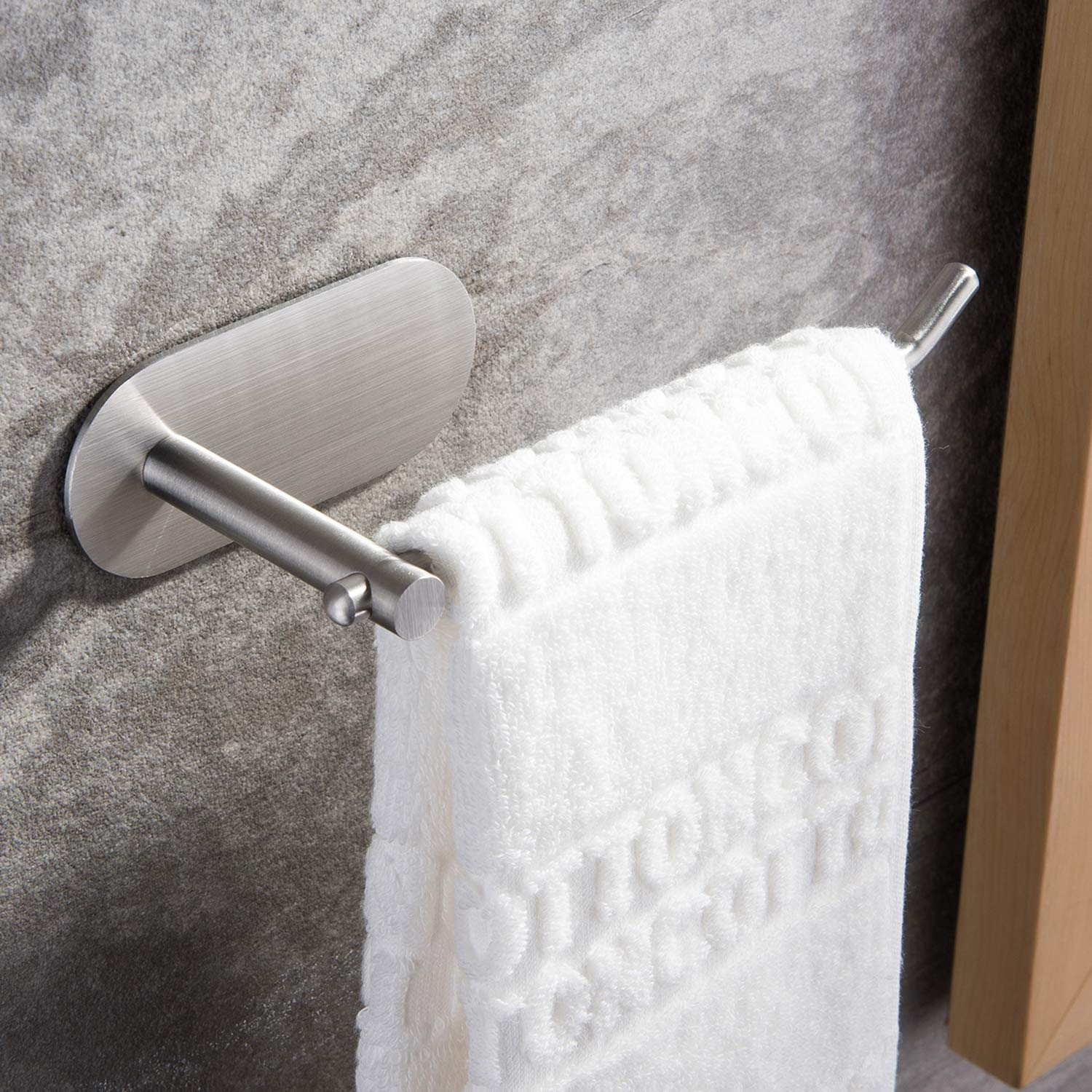 SUNTECH Hand Towel Holder/ Towel Ring - Self Adhesive Towel Bar for Kitchen and Bathroom No Drilling by SUNTECH