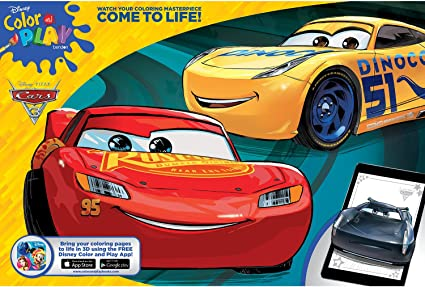 Amazon.com: Disney Bendon Cars 3 Giant Coloring And Activity Book, 11