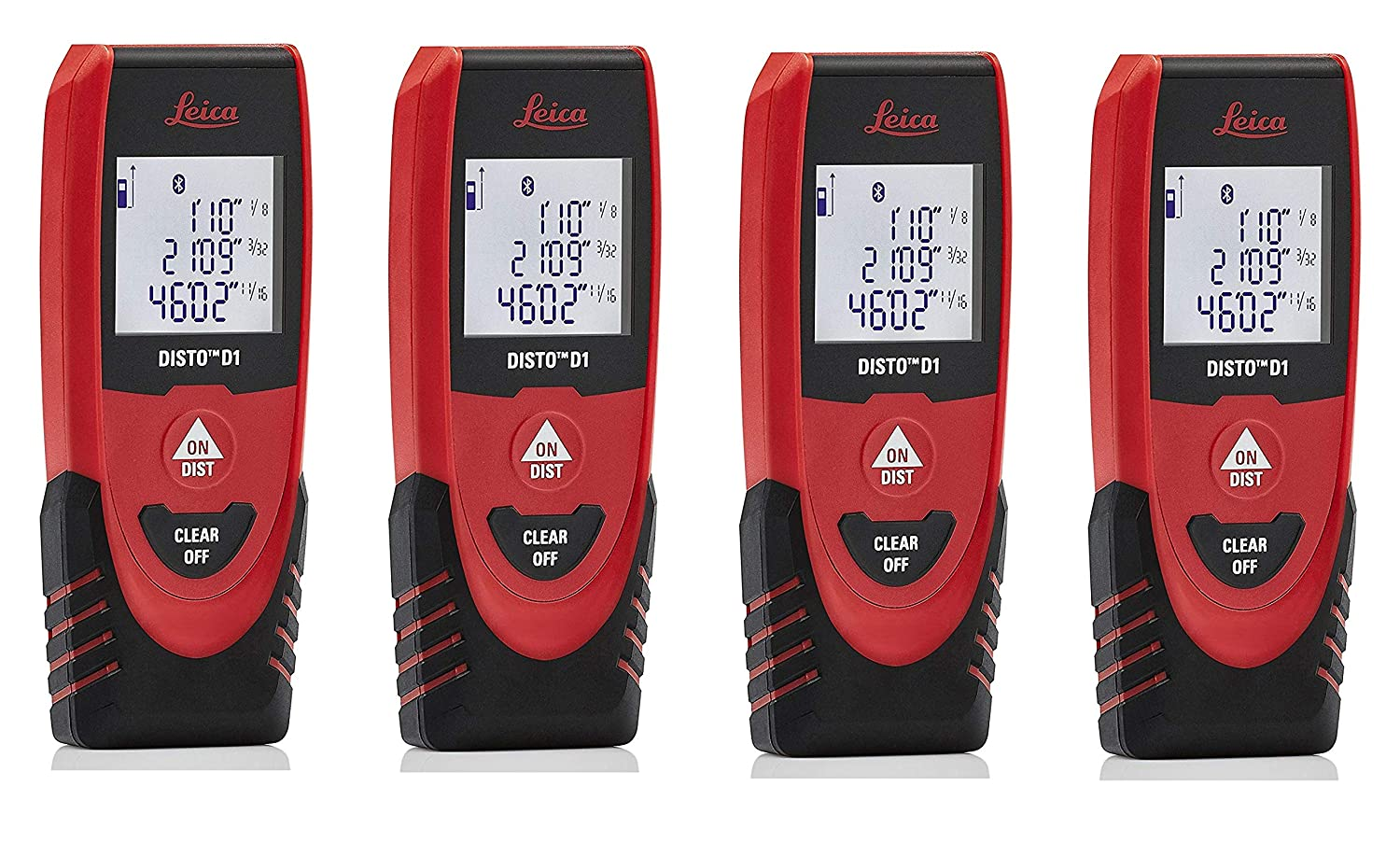 Amazon.com: Leica DISTO D1 130ft Laser Distance Measure with Bluetooth 4.0, Black/Red (2 Pack): Home Improvement