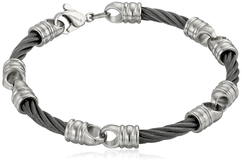 Edward Mirell Signature Cable Men's Titanium Link Bracelet, 7.5