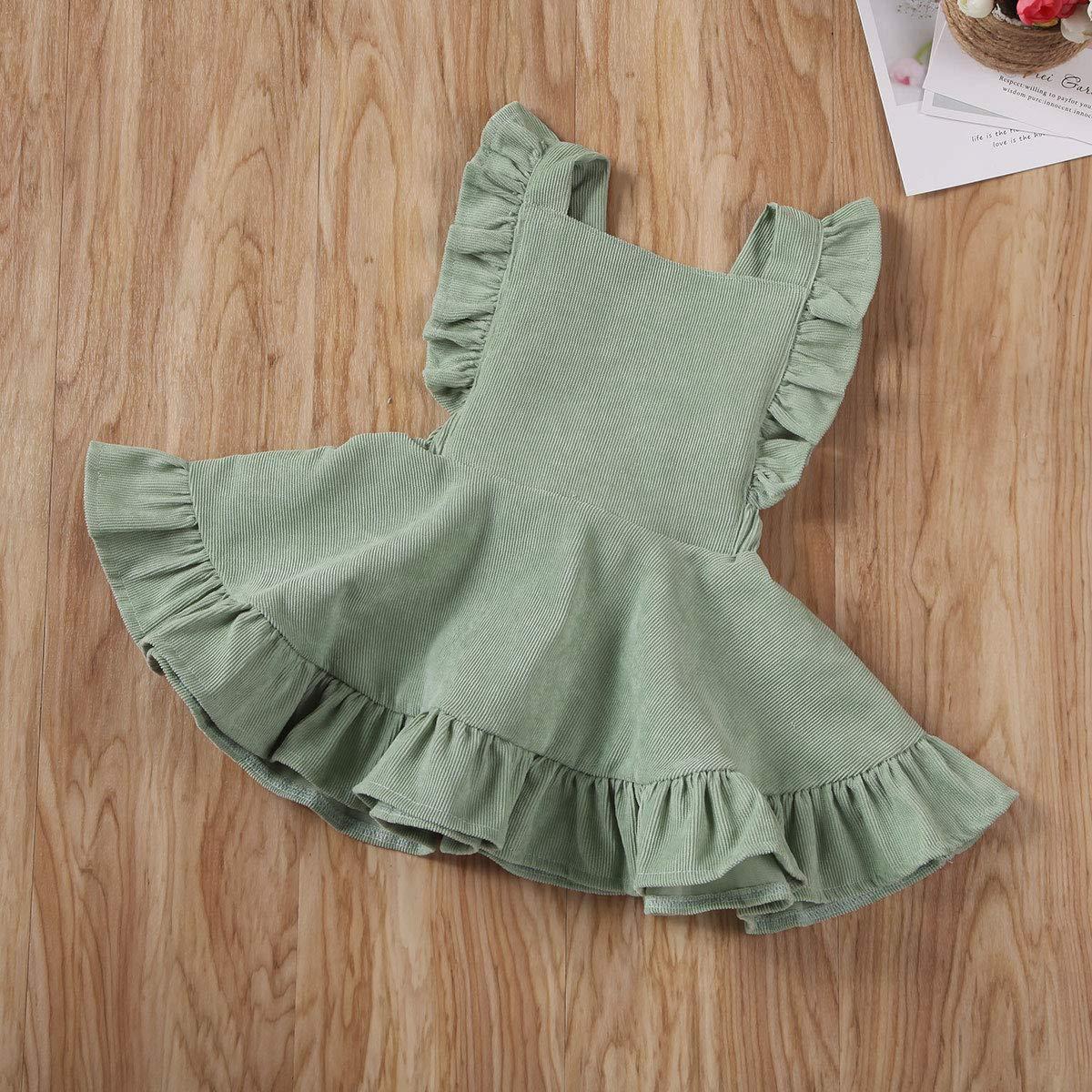 Ages for 6Mos-5T MERSARIPHY Toddler Tutu Dress Infant Sleeveless Vest Skirt Baby Backless Cute Romper for Girl Ruffle Skirt
