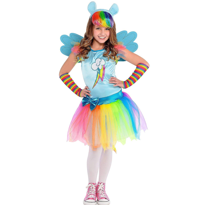 My Little Pony Tutu Costume Dress Rainbow Dash Tail Headband Arm Warmers Large 12-14
