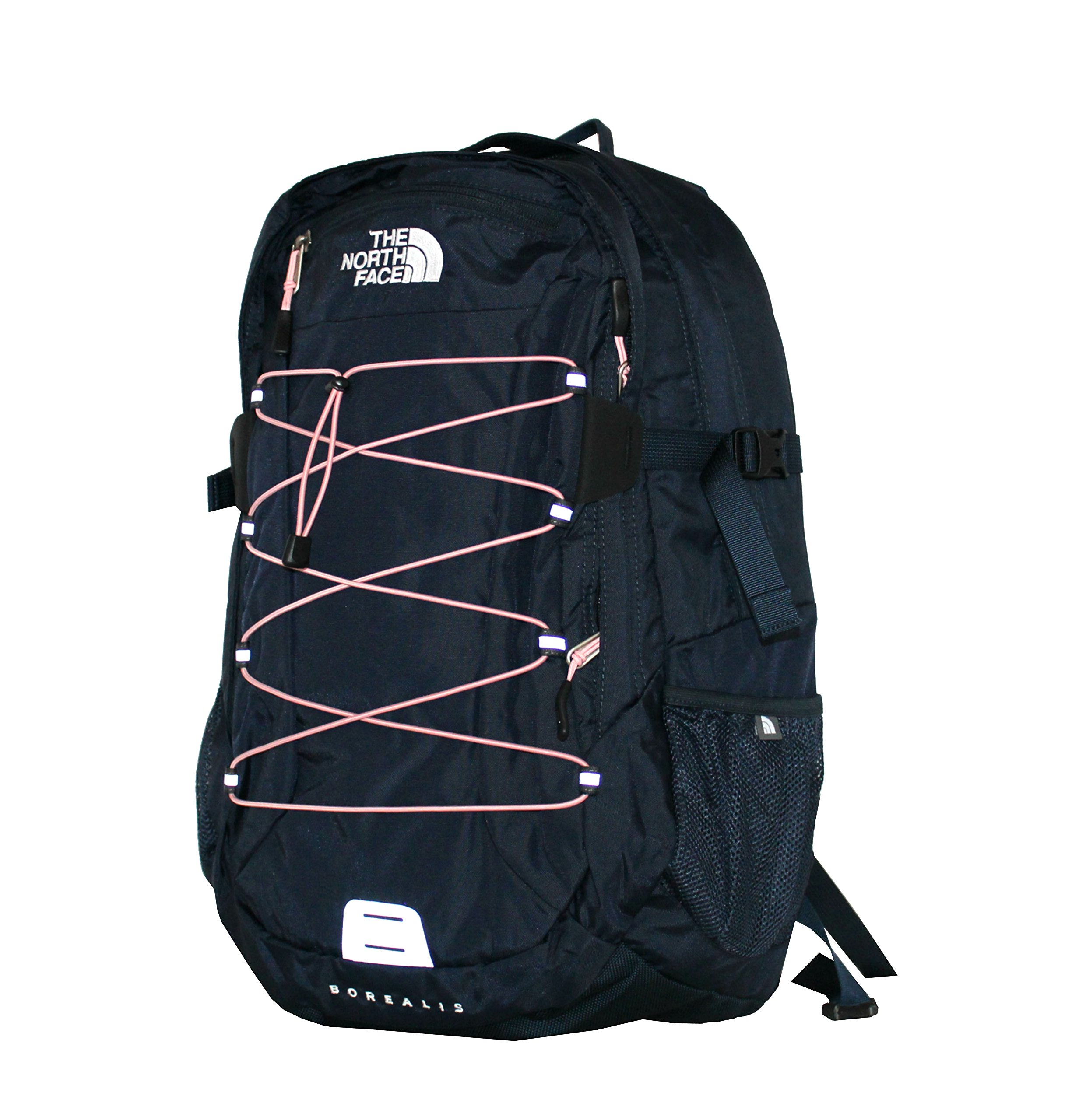 The North Face Women Classic Borealis Backpack Student School Bag (Urban navy pink)