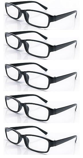 910240abaa 4sold Gafas de Lectura Presbicia Vista Cansada - (Pack 5) Graduadas fde 0.5  a 4.00 Dioptrías Montura de Pasta Azul Marrón Negra ...