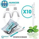 Kit gel blanchiment dentaire White First ® - kit blanchiment dentaire avec 100ml de gel dentaire Parfum Menthe Fraîche. Nos produit dentaire sont conçu pour les dents sensibles