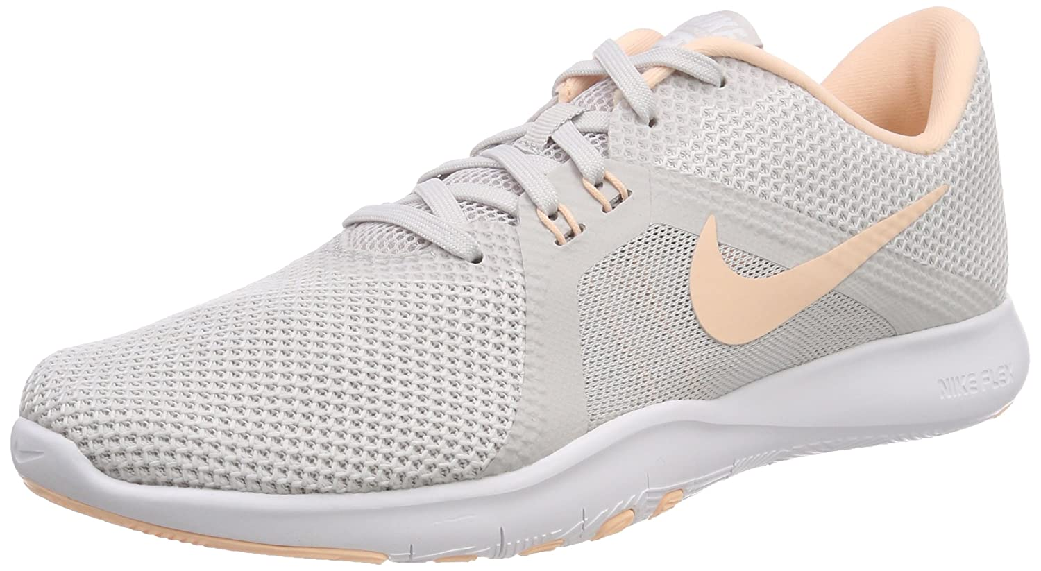 NIKE Women's Flex 8 Cross Trainer B0761YGMF6 6.5 B(M) US|Vast Grey/Crimson Tint-white