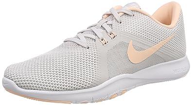 sale retailer bf4e3 5a8b8 Nike W Flex Trainer 8, Chaussures de Fitness Femme, (Gris Vaste Blanc