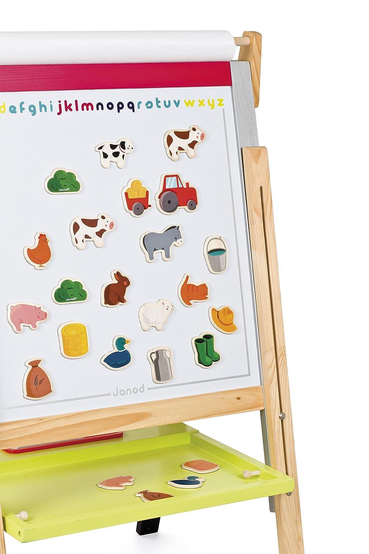 24 Pieces Farm Janod J08157 Wooden Magnets