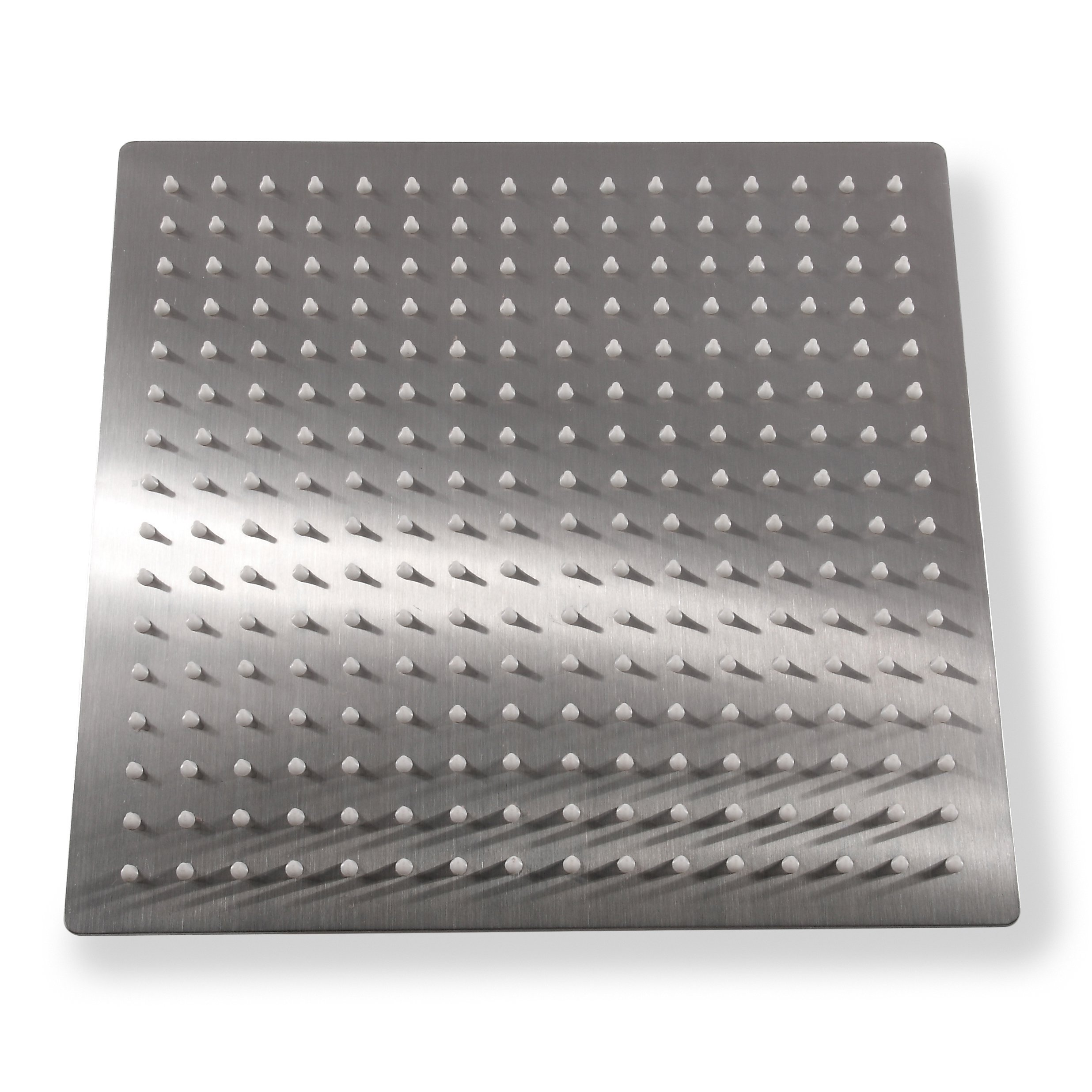 KiaRog® 12 Inch (12'') Rain Brushed Shower Head. 12-Inch Side,1/16'' Ultra Thin Showerheads.30 CM * 30 CM Stainless Steel Shower