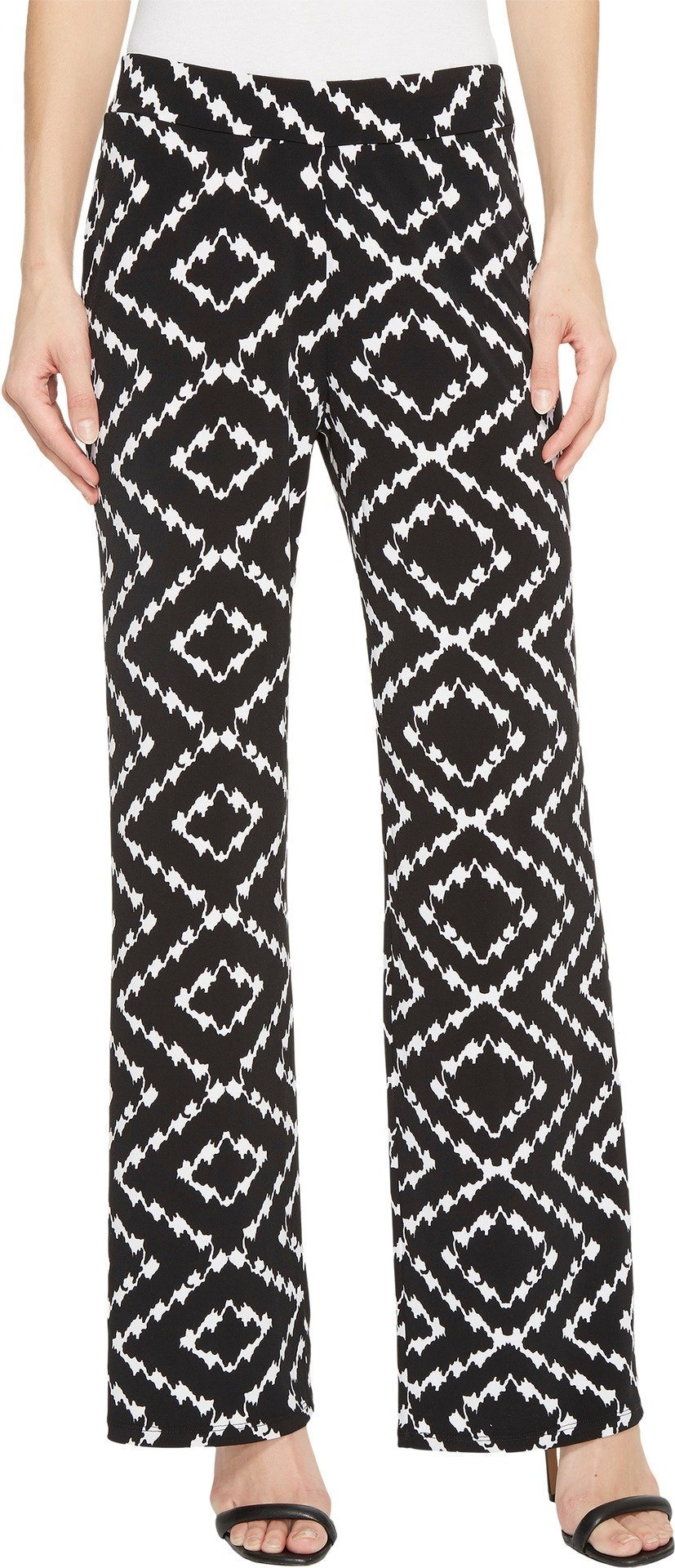 Tribal Women's Pack and Go Travel Jersey 30'' Printed Pull-On Wide Leg Pants Night Small