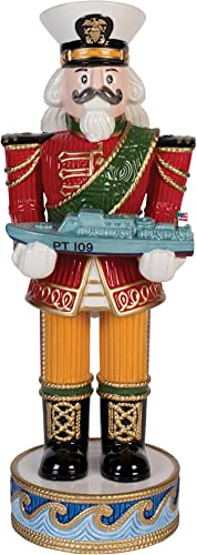 Fitz and Floyd Coleen Christian Burke Kennedy, Nutcracker Figurine with PT Boat