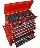Commode avec set complet d'outils manuels Tournevis douilles adaptateurs