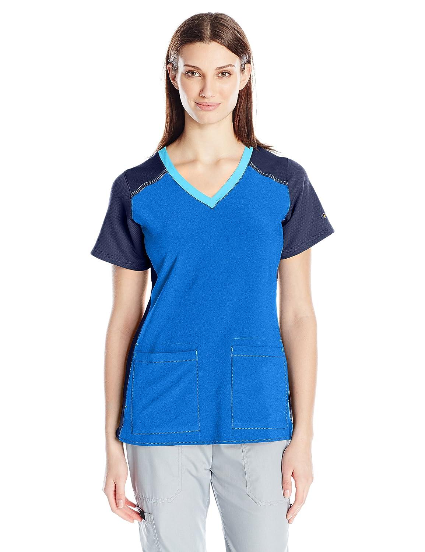 Carhartt Womens Cross-Flex Women's Mulit Color Knit Mix V Neck Scrub Top Carhartt Women's Scrubs C12410A