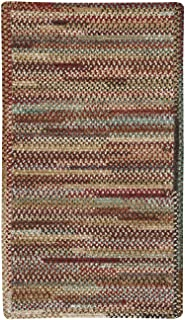 "product image for Habitat Deep Red 5' 0"" x 8' 0"" Cross Sewn Rectangle Braided Rug"