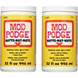 Mod Podge Waterbase Sealer, Glue and Finish, 2 Pack (32-Ounce), CS11303 Matte Finish