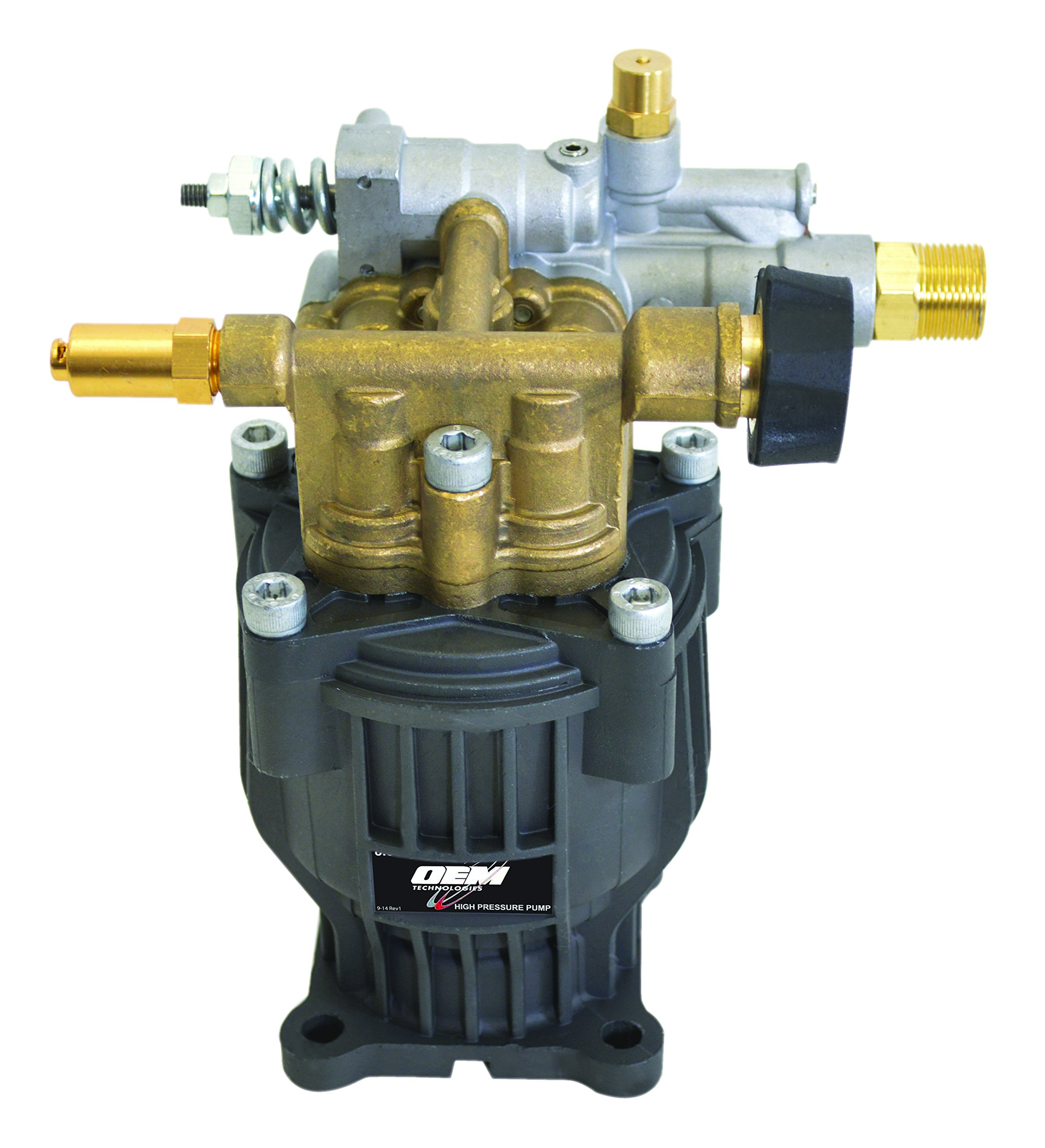 SIMPSON Cleaning 90029 Axial Cam Horizontal Pressure Washer Replacement Pump 8.6CAH12B 3100 PSI @ 2.5 GPM with Brass Head and PowerBoost Technology by Simpson Cleaning (Image #4)