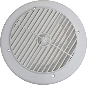 """Valterra A10-3355VP White Rotating Heat and A/C Register (4"""" ID, 7"""" OD)"""