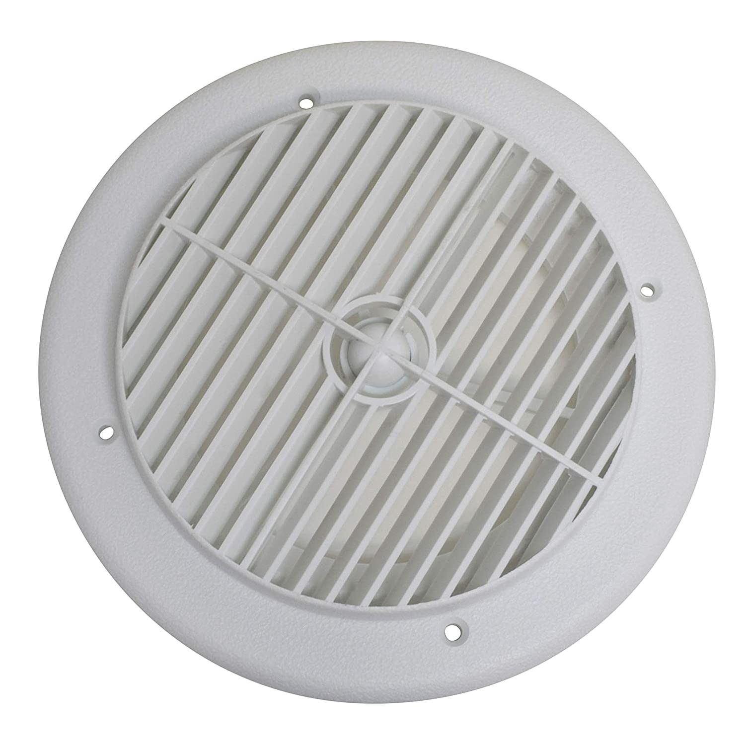 Valterra A10-3355VP White Rotating Heat and A/C Register (4' ID, 7' OD) 7 OD)