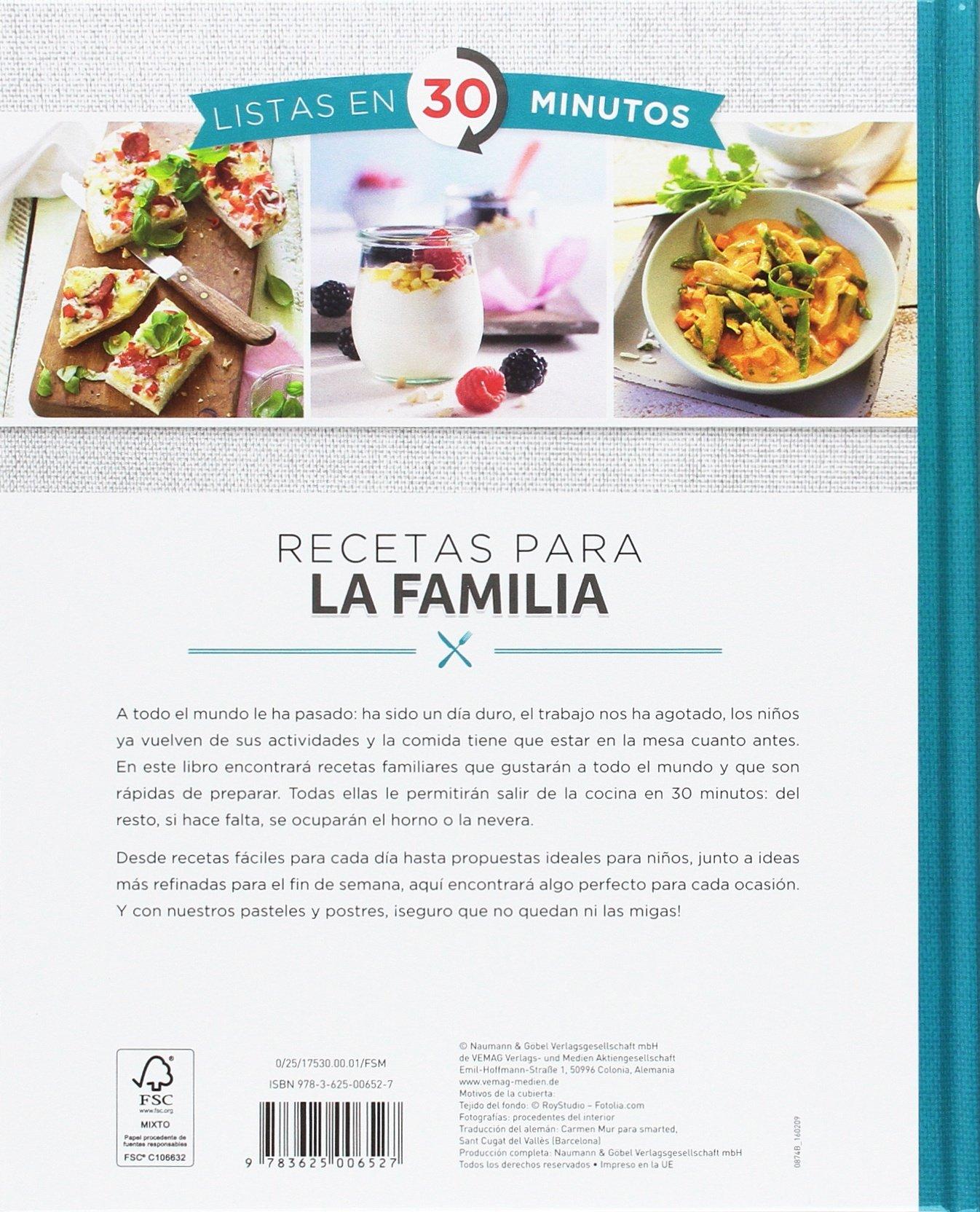 Recetas Para La Familia. Listas En 30 Minutos: Amazon.es: Vv.Aa ...