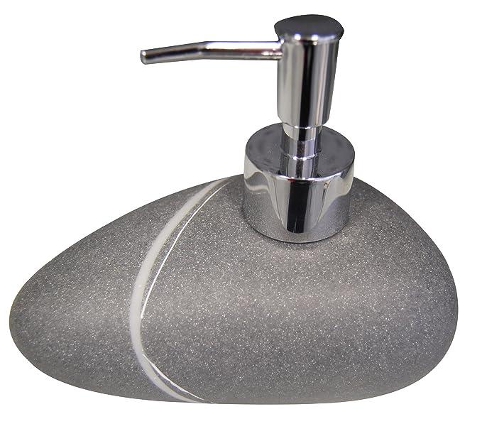 Ridder 229902070-350 - Juego de accesorios para baño, escobilla, dispensador de jabón, recipiente y soporte para cepillos de dientes, color gris: Amazon.es: ...