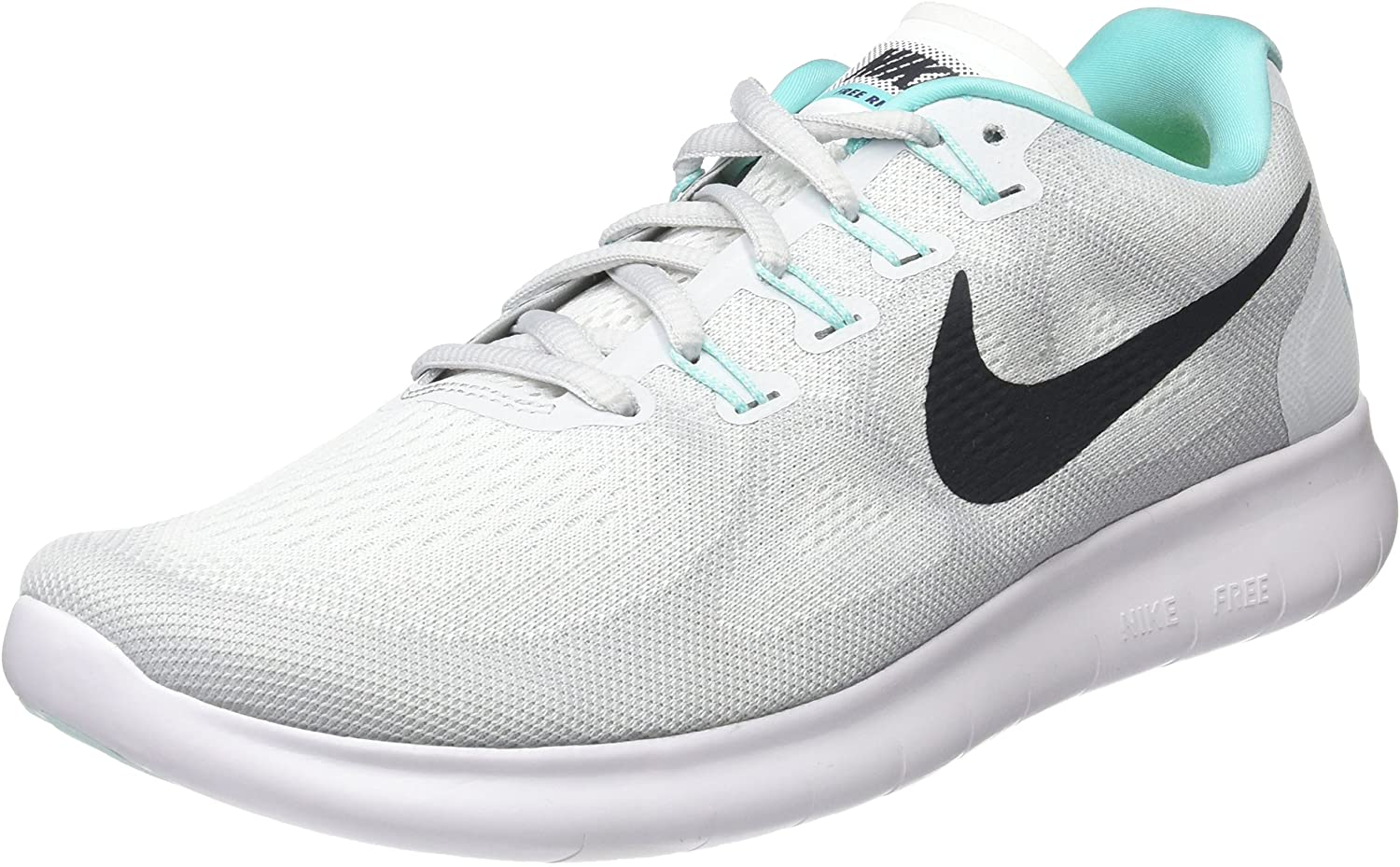 Nike Women S Free Rn 2017 Running Shoe White Anthracite Pure Platinum 6 Road Running