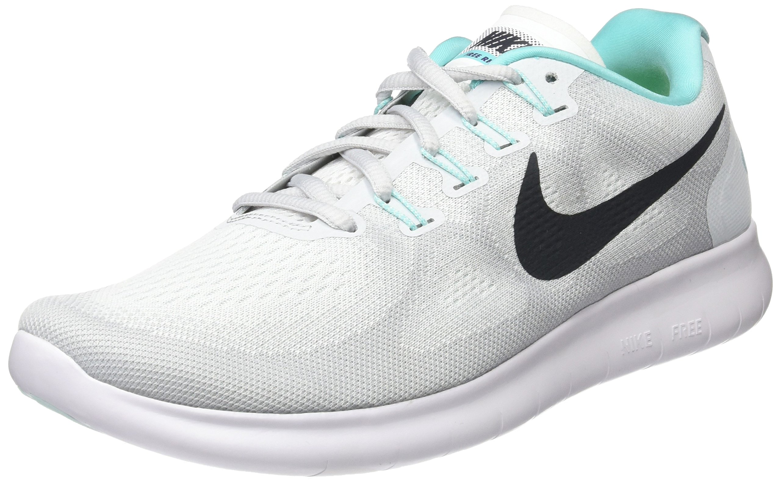 b8ee6aae7730c Galleon - Nike Women s Free RN 2017 Running Shoe White Anthracite Pure  Platinum Size 9 M US