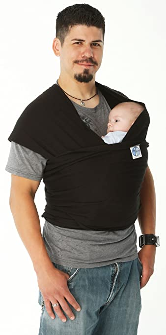 Moby Wrap Cotton Baby Carrier, Black