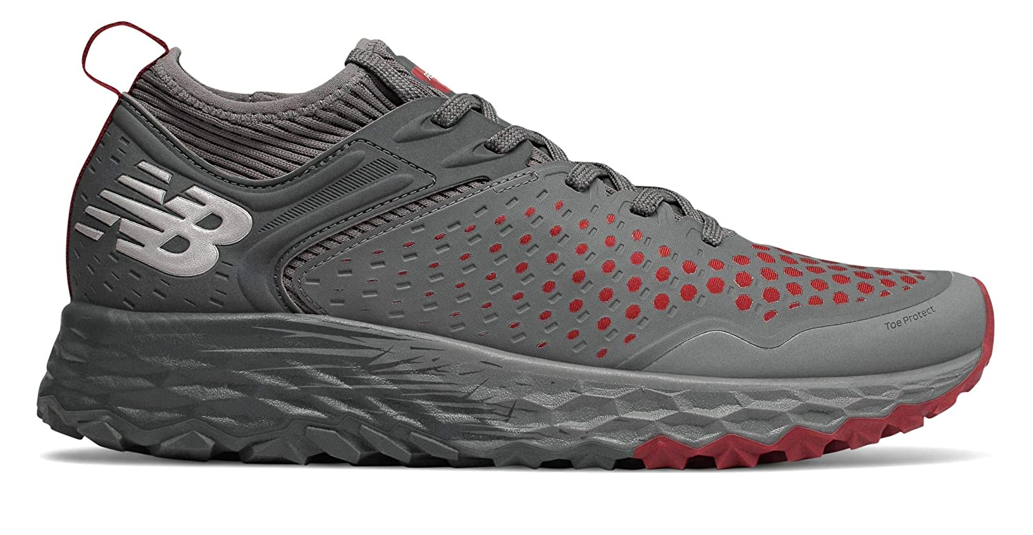 [ニューバランス] 靴シューズ メンズランニング Fresh Foam Hierro v4 [並行輸入品] B07N6H1YQ1 Lead with Scarlet and Orca 29.5 cm 29.5 cm|Lead with Scarlet and Orca