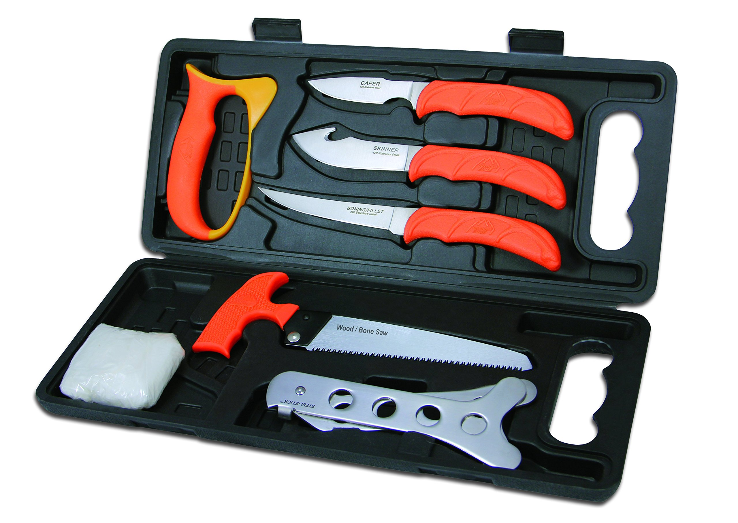 Outdoor Edge WildPak, WP-2, Field Butchering Kit for Big Game Hunting (8 Pieces) by Outdoor Edge (Image #1)