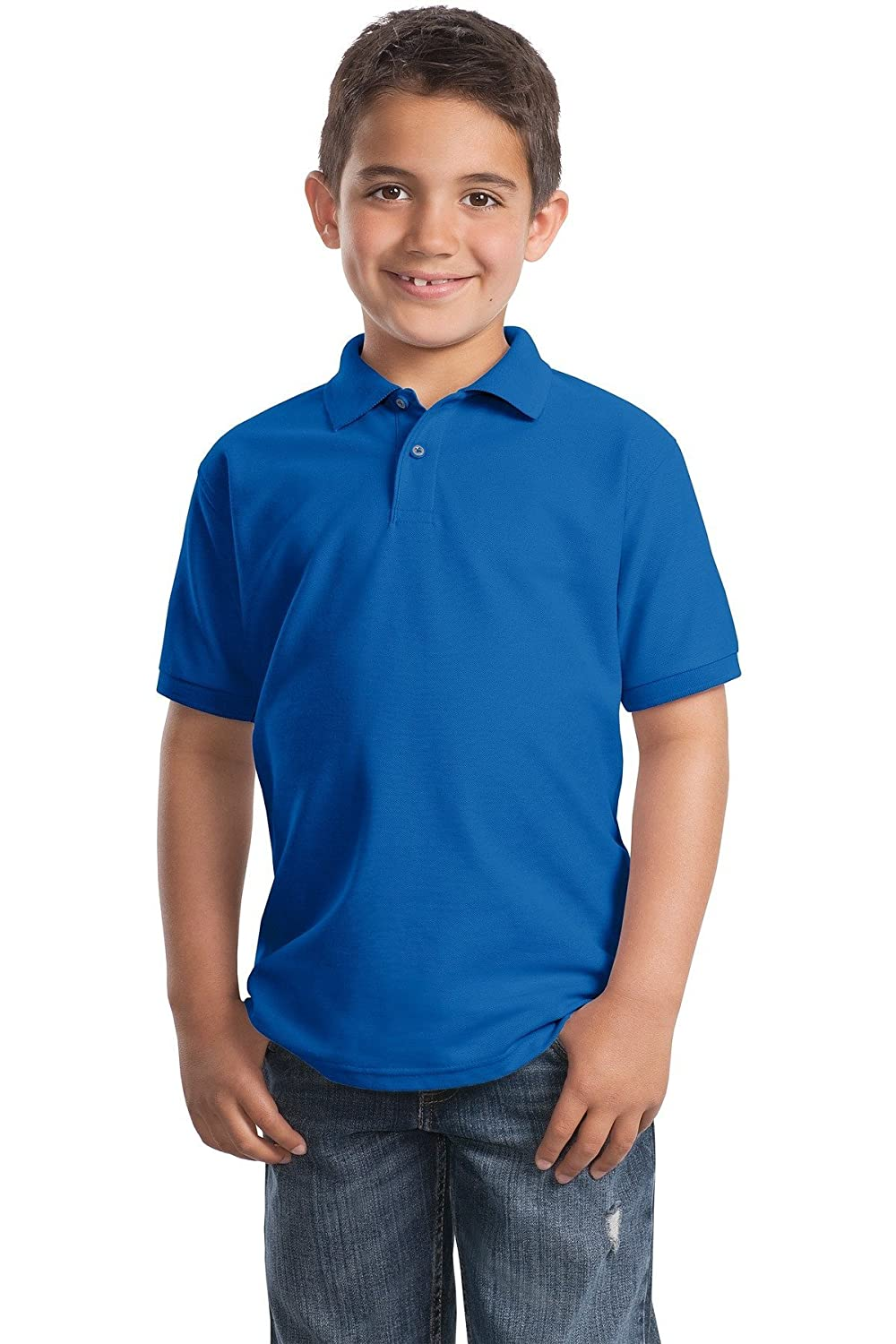 Port Authority Youth Silk Touch Polo Y500 Royal XL