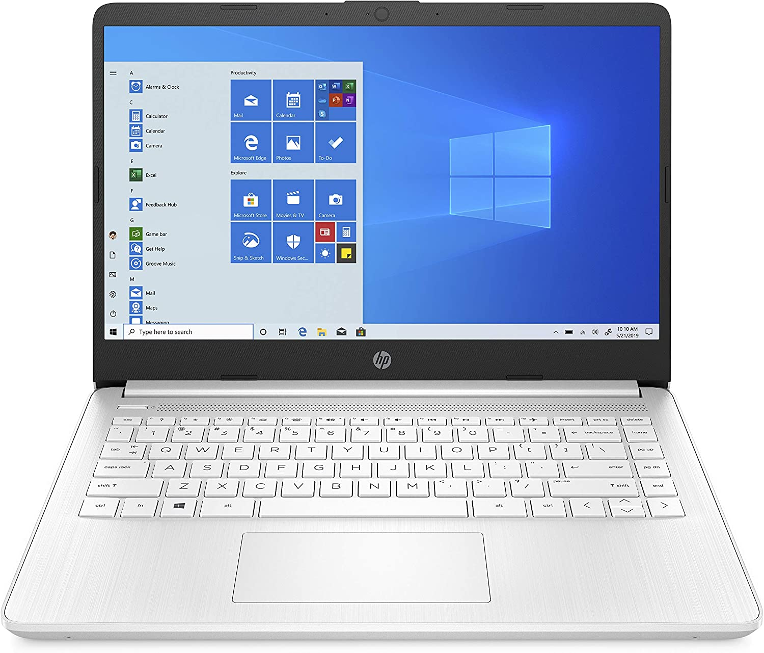 HP 14-inch Laptop, AMD 3020e Processor, AMD Radeon Graphics, 4 GB RAM, 64 GB eMMC, Windows 10 Home in S Mode (14-fq0070nr, Snowflake White)
