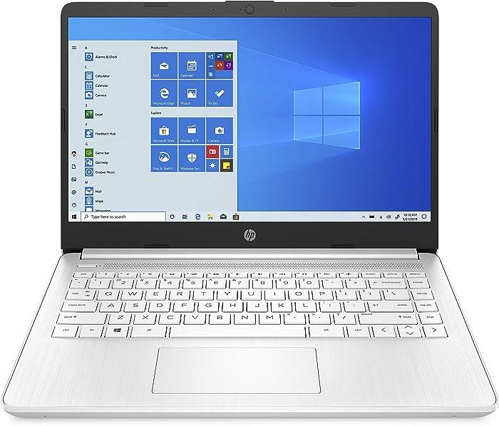 HP 14-inch Laptop, AMD 3020e Processor, AMD Radeon Graphics, 4 GB RAM, 64 GB eMMC, Windows 10 Home in S Mode (14-fq0080nr, Snowflake White)