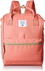 Anello Polyester Canvas Backpacks (Salmon Pink)