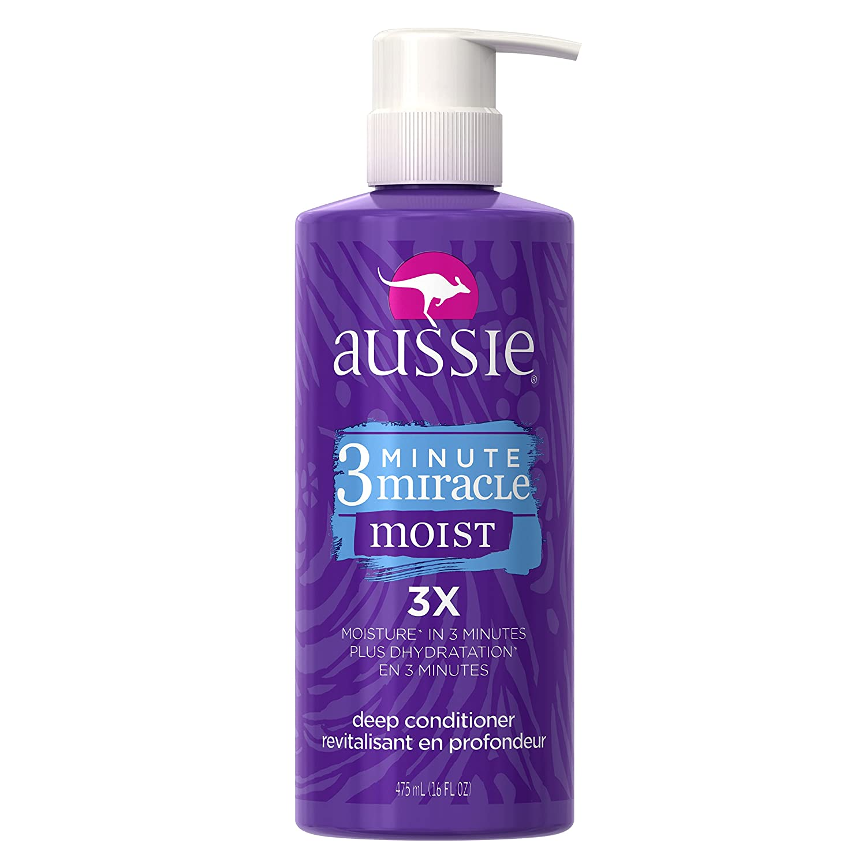 Aussie 3 Minute Miracle Moist Deep Conditioning Treatment, Detangler 16 Fluid Ounce (Pack of 6)