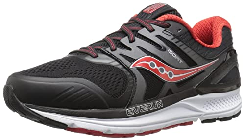 773638b3f6 Saucony Men's Redeemer Iso 2 Running-Shoes, Grey Black, 10. 5 W US ...