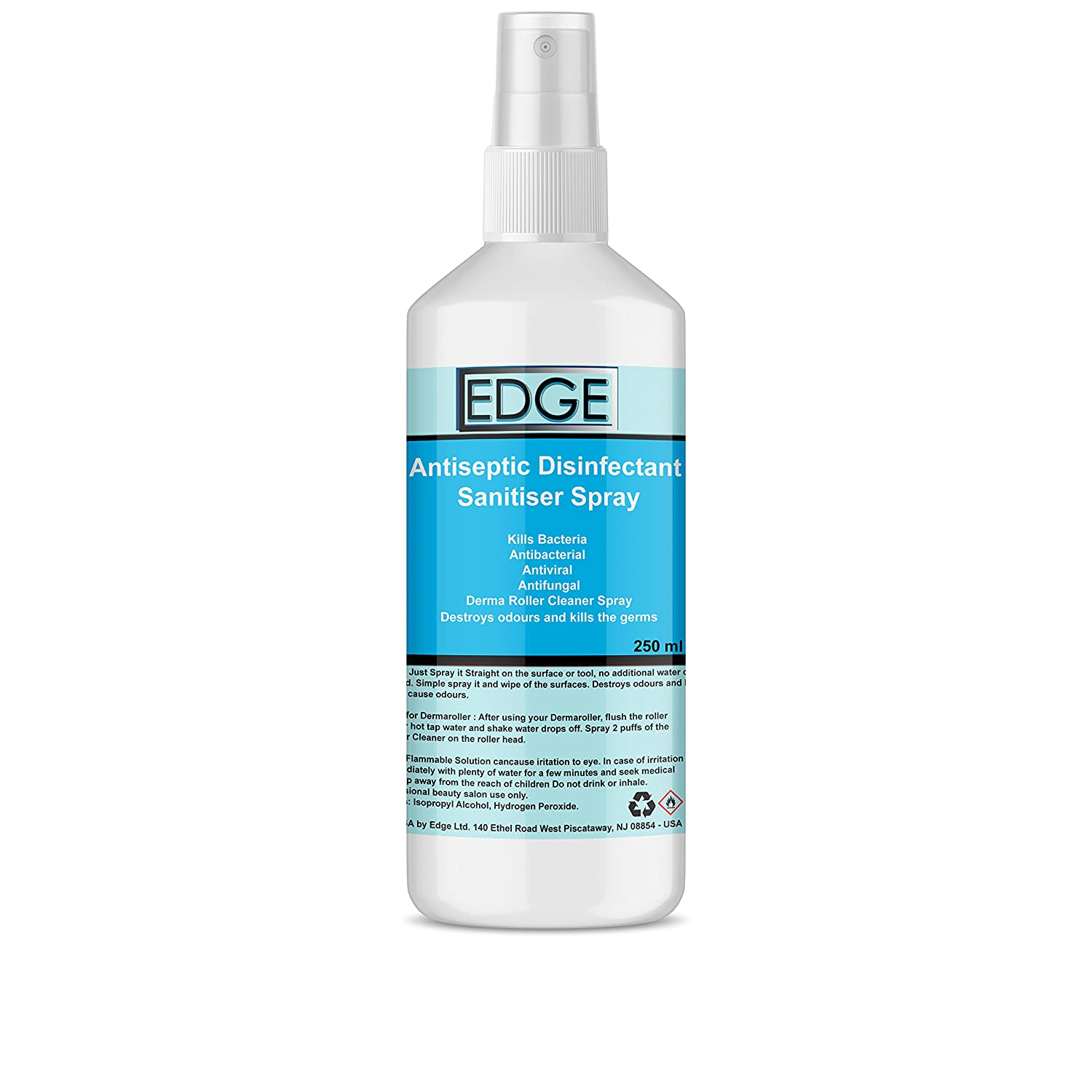Antiseptic Disinfectant Sanitiser Spray For Cleaning Beauty Salon Equipment, Manicure Pedicure Equipment Tools, Derma Roller Cleaner Spray, Kills and Protects Against Germs, Bacteria, Natural & Synthetic Make Up Brushes Kills Bacteria, Antibacterial,