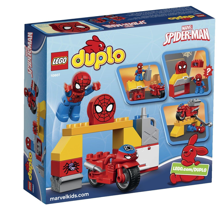 Lego Duplo 10607 Super Heroes Spider Man Web Bike Workshop Amazon Luggage Tag Spiderman Kotak Beauty