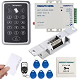 UHPPOTE 125KHz RFID EM ID Keypad Single Door Access Control Kit With Strike Lock Remote Exit