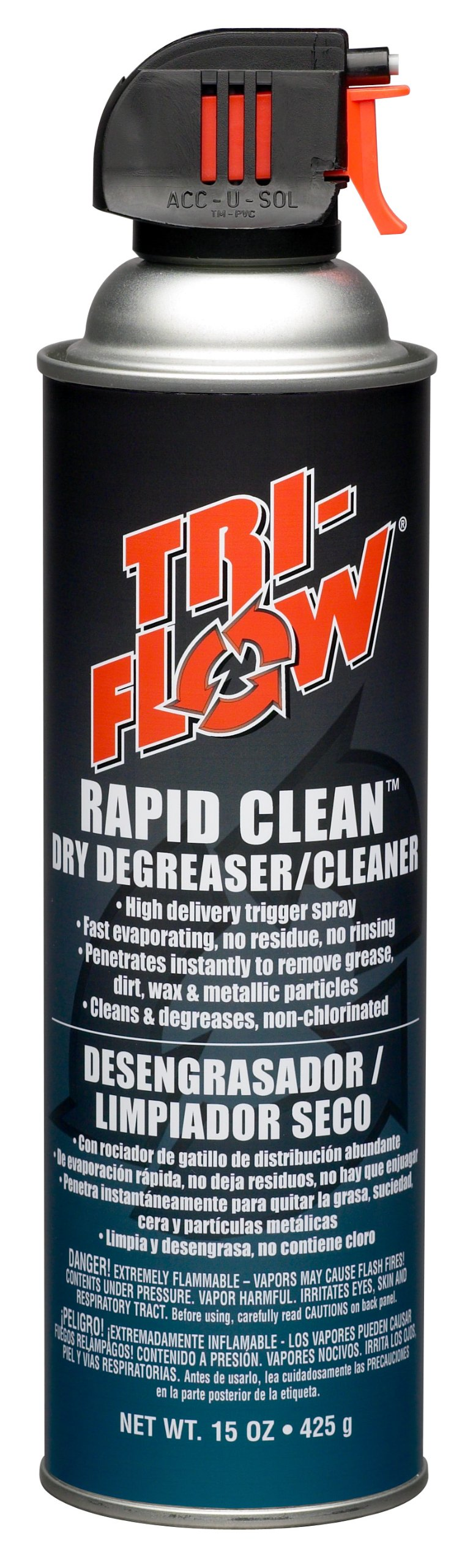 Tri-Flow TF0023008 Rapid Clean Dry Cleaner/Degreaser - 15 oz. Aerosol
