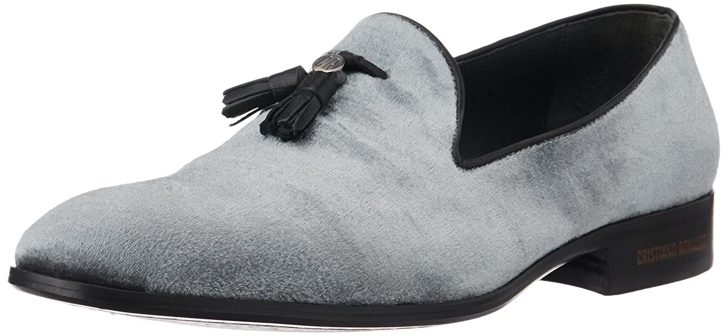 1b525a2c18f Cristiano Ronaldo CR7 Men s Tango Metal Blake Grey Velvet Loafers and  Mocassins - 7.5 UK India (42 EU)(8.5 US)(01.05.01.07.02.02)  Buy Online at  Low Prices ...