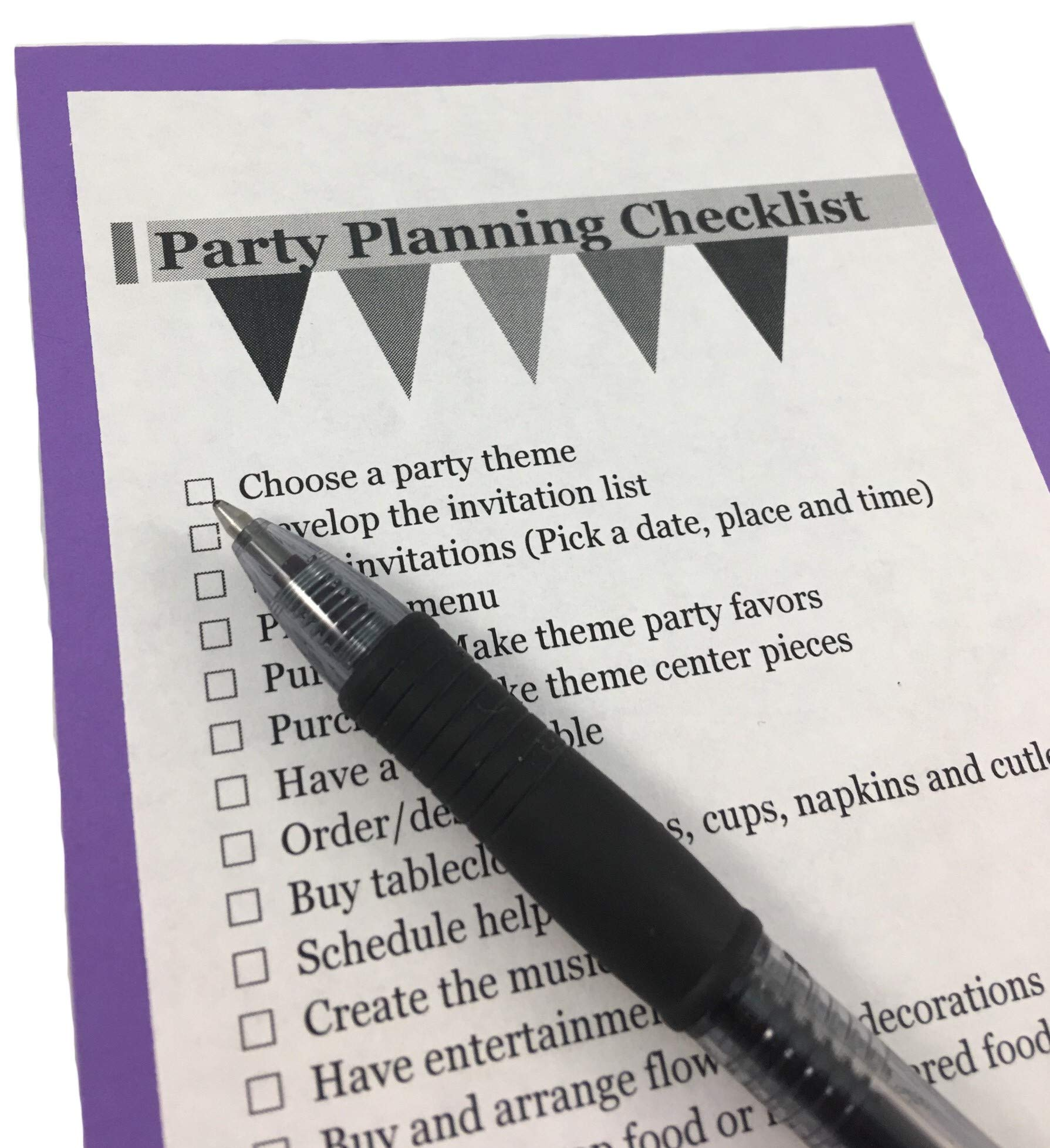 Purple Beverage Napkins (100-count) and Purple Dinner Napkins (100-count), and Comes with a Party Planning Checklist by Creative Converting Touch of Color
