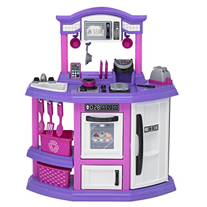 Amazon Com 22 Piece Baker S Kitchen Set Kids Play Kitchen Set