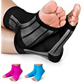 Premium Compression Socks- Highest Medical Grade for Serious Pain Relief- Foot Sleeves Combine Achilles Tendon Support + Plantar Fasciitis Night Splint + Ankle Brace- Men/Women (2 Sleeves)
