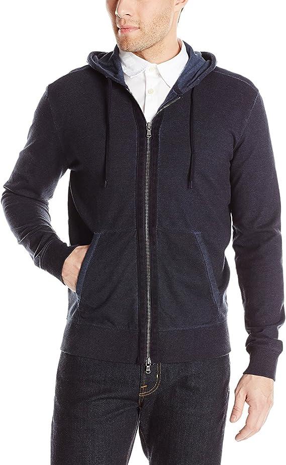 John Varvatos  Men's sweatshirt hoodie Zip front black 3 star small  $178 D5