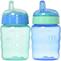 Philips Avent My Easy Sippy Cup, 9 Ounce/260ml, Blue/Green, Stage 2 (colors may vary)