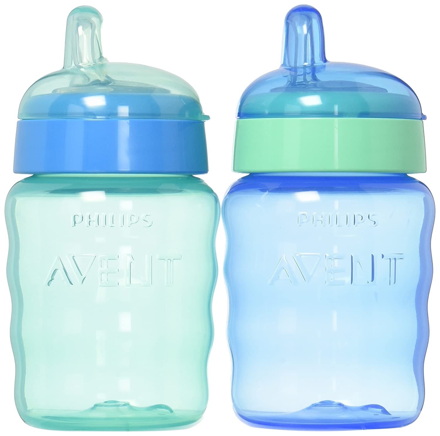Philips Avent My Easy Sippy Cup, 9 Ounce, Blue/Green, Stage 2 (colors may vary) SCF553/25