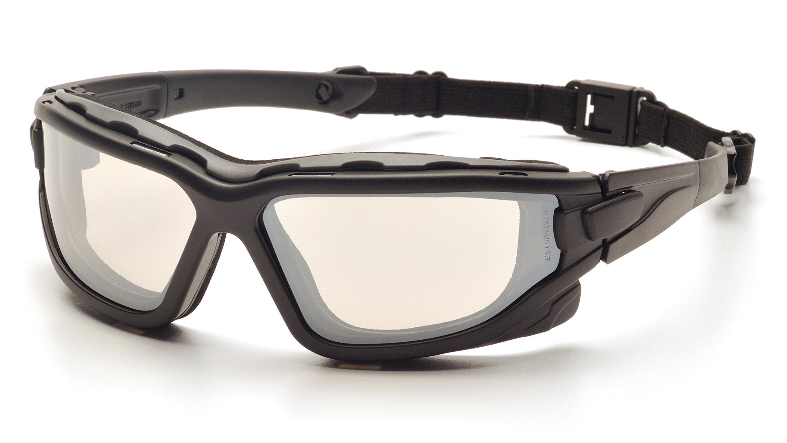 Pyramex I-Force Slim Safety Goggle SB7080SDNT, Black Frame/Indoor/Outdoor Mirror Anti-Fog Lens