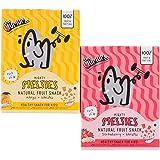 The Mumum Co. Mighty Melties Natural Freeze Dried Fruit Snacks for Kids Combo, 10g X 4 Pack of 2 (1 Box Mango Banana & 1 Box Strawberry Banana)