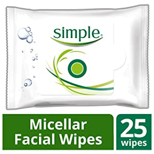 Simple Facial Wipes, Micellar, 25 ct