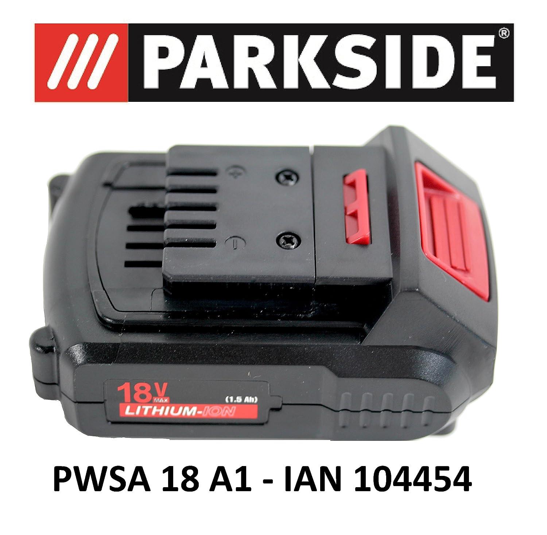 Batterie Parkside 18V 1,5Ah PAP 18–1,5A1pour PWSA 18A1–IAN 104454, batterie de meuleuse d'angle Batterie Parkside 18V 1 5Ah PAP 18–1